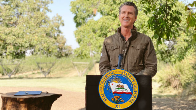 Gov. Gavin Newsom prepares to sign executive order