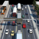 Artist's rendering of haul road
