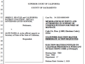 Orrin Heatlie arguments for delaying recall signature deadline. (PDF)