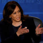 Kamala Harris makes a point in the debate