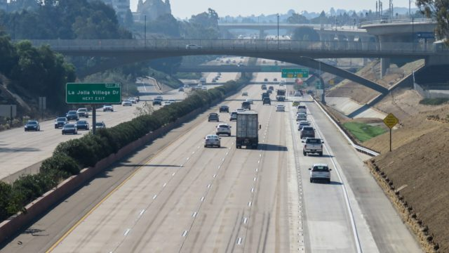 A view of Interstate 5.