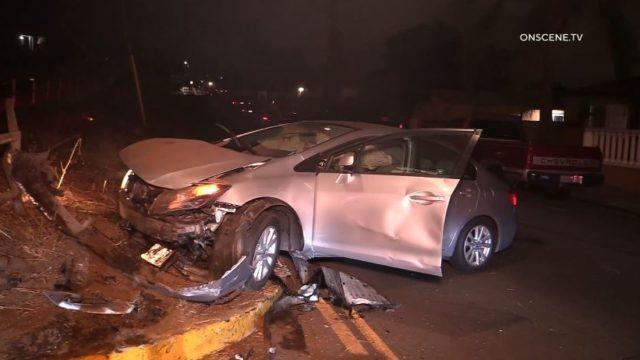 Wreckage after crash