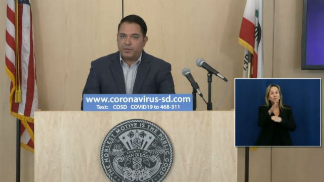 Steve Padilla at county press conference