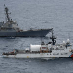 USS Pinckney and Coast Guard Cutter Larriet Lane