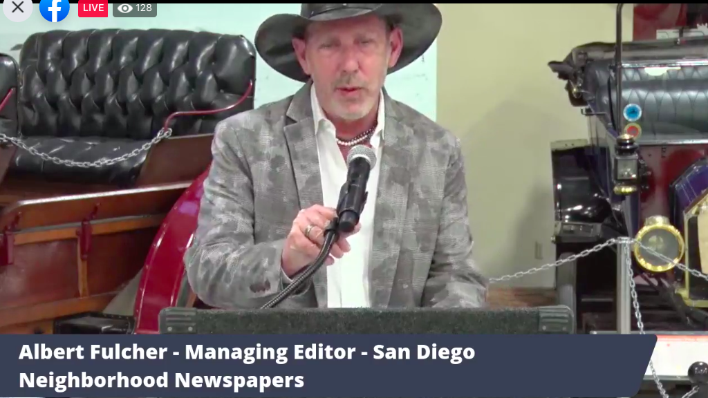 Albert Fulcher is outgoing president of the San Diego Press Club.
