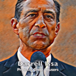 """Image of Darrell Issa in video labeled """"A message from Q."""""""