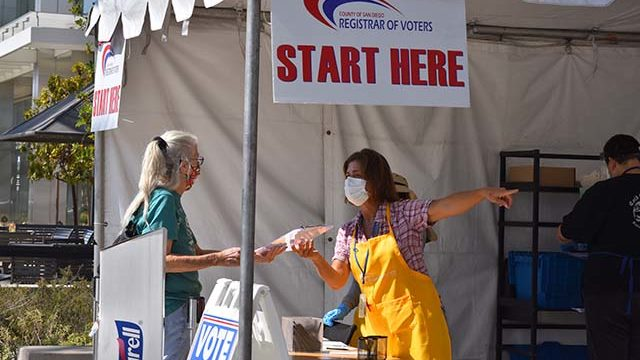 A citizen registers to vote on the last day before the deadline.