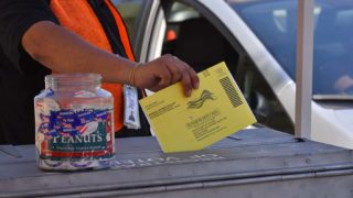 Many voters choose to drop off their mail-in ballots at the San Diego Registrar of Voters office in Kearny Mesa.