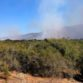 Smoke rises from Cleveland National Forest.