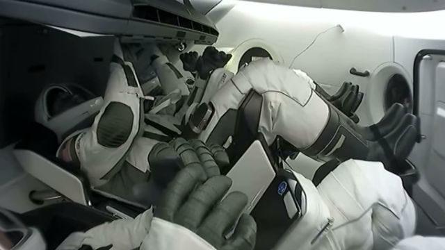 Astronauts on the Crew Dragon