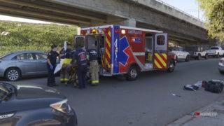 San Diego Fire Police Car Wreck