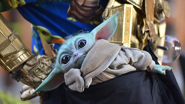 Baby Yoda Replica is Secret Treat as 'Candy Monster Tree' Lures Chula Vista Kids - Times of San Diego