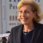 Mayoral candidate Barbara Bry speaks to the media on Election Day in La Jolla.