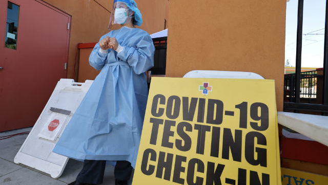 COVID-19 testing in East Los Angeles