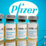 Photo illustration of the Pfizer vaccine