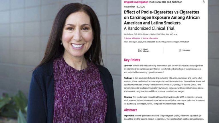 Kim Pulvers of CSU San Marcos was lead author of study on new e-cigarettes.