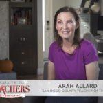 Teacher of the year Arah Allard