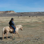 New Mexican cattle rancher Tim Herrera on the range