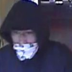 Surveillance camera image of Bank of West robbery suspect.