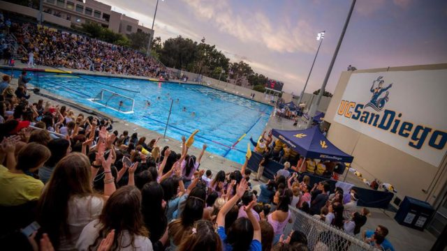 UC San Diego's Canyonview Aquatic Center hosts swimming, diving and water polo.